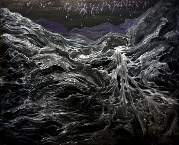 "POWS02E05, 60 x 72"", Acrylic on Canvas, 2014"