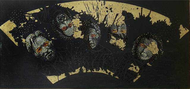"House of Winter, 27"" x 57"", Acrylic on Canvas, 2008"
