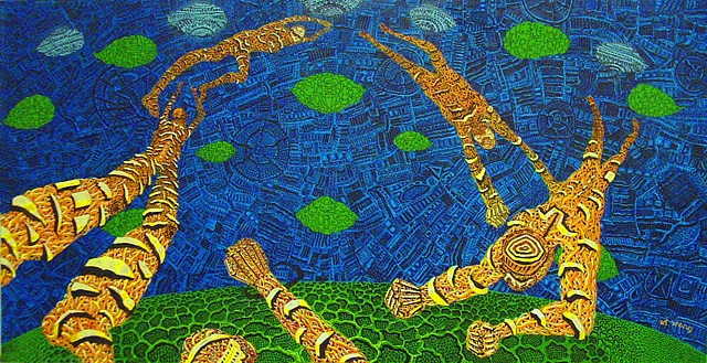 Escape, 4 x 8 foot, Acrylic on Canvas, 2005