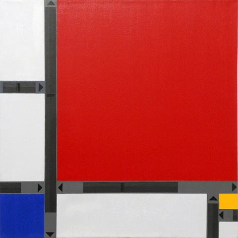 "Meng De Li An, 30 x 30"", Acrylic on Canvas, 2010"