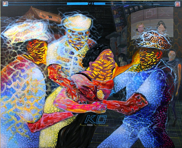 "The Flash, 60 x 72"", Acrylic on Canvas , 2012"