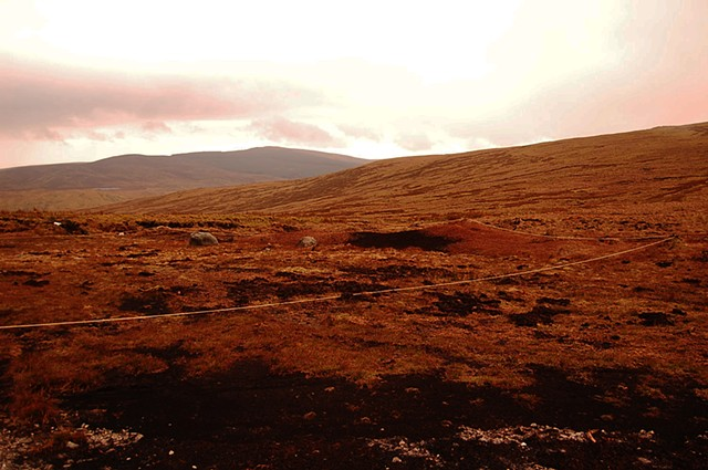 CAAKE project Residency, Sperrin Mountains, County Derry. Borderline [bog brown]