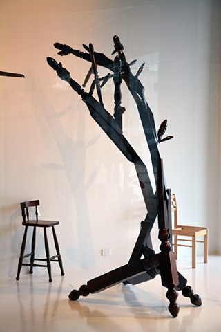 Mission Brown Bud Tree with Chair #30