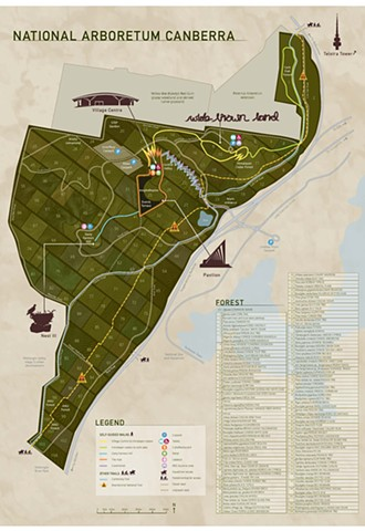 Map of National Arboretum Canberra