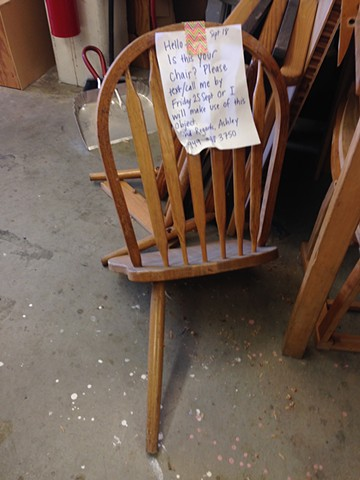 Salvage Materials: Abandoned Chair
