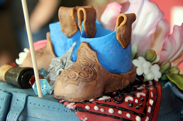 "Tebon Baby Reveal Cake ""Cowboy or Cowgirl"" (photo's by Danielle Charriere)"