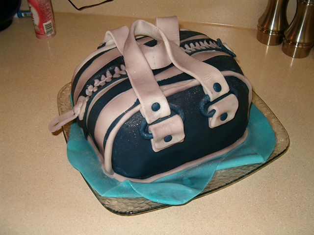 Zebra Bag cake for retiring co-worker