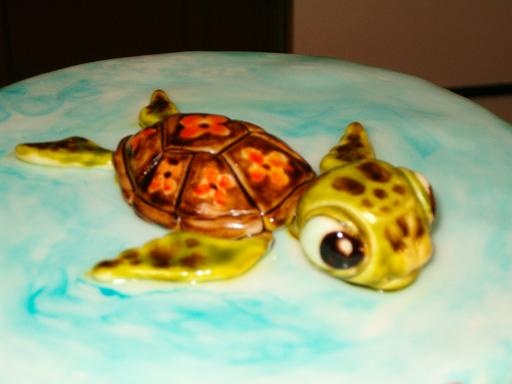 "Disney's ""Finding Nemo"" cake - Turtle ""Hey Dude!!!"