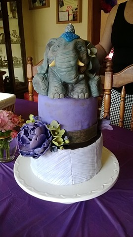 Breanna's 13th Birthday Elephant Cake