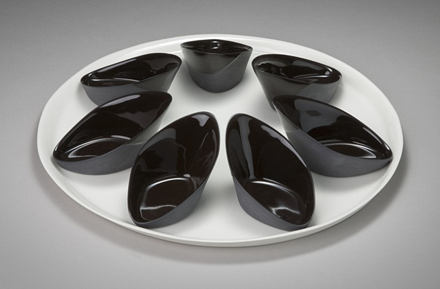 Platter with Slant Dishes