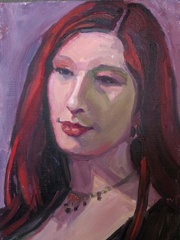small oil portrait