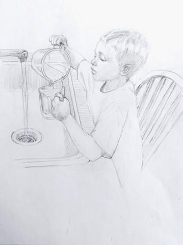 David at the Sink
