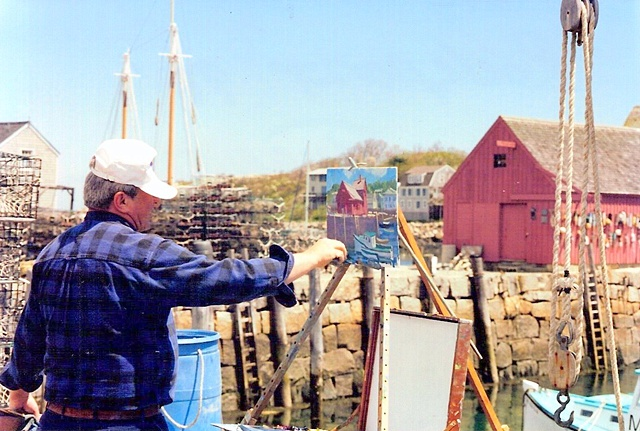 Conducting a workshop in Rockport, MA