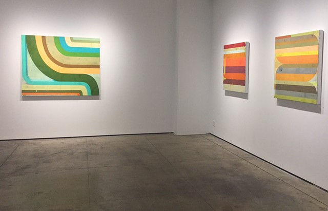 Installation view of btw, Kathryn Markel Fine Arts, NY  May 11- June 17