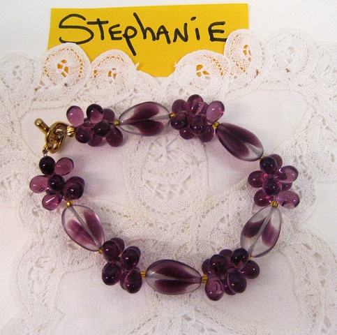 Grape Cluster bracelet by Stephanie