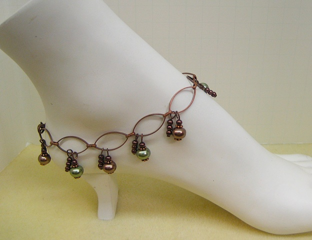 Chain anklet made by Stephanie