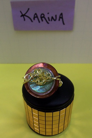 Stacked Button Ring made by Karina