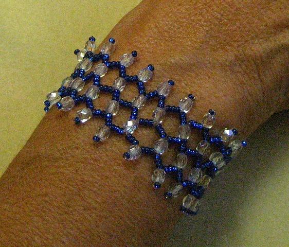 Crystal cuff by Lizzie
