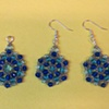 Crystal Medallion and Earrings By Lizzie