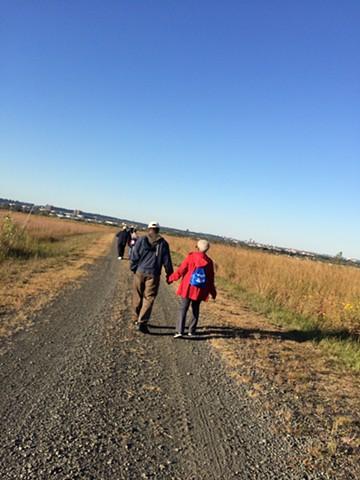 local elders visit a transformed landfill