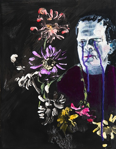 Frankenstien monster floral flower painting still life by Steve Veatch