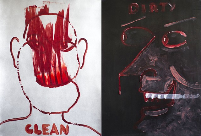 clean dirty diptych by Steve Veatch