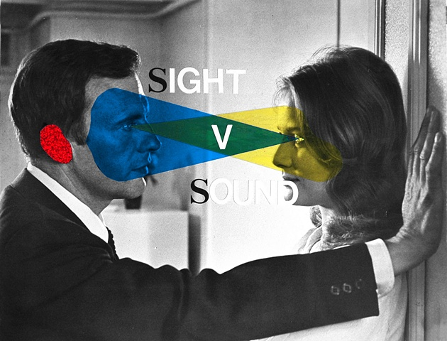collage man woman sight sound listening seeing sight blind deaf teenage collage man women porn blue by Steve Veatch