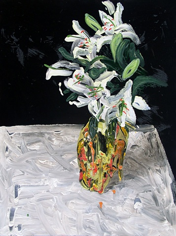 Lillie still life flower painting floral painting by Steve Veatch