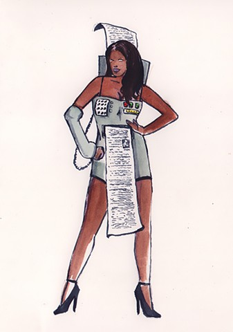Sexy Fax Machine costume.