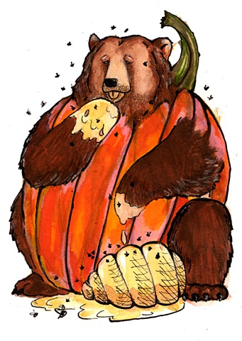 Brown Bearumpkin