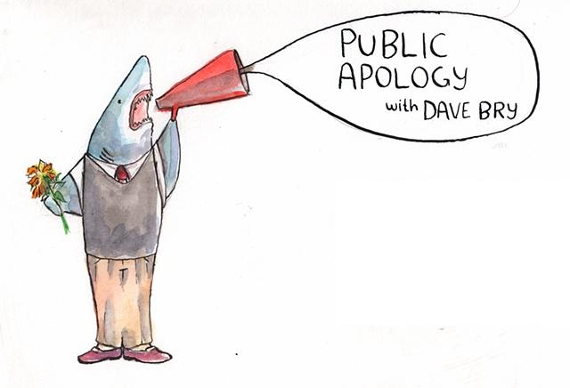 Public Apology featuring a shark.