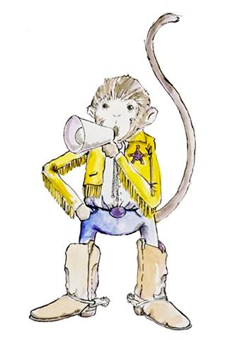 Sheriff Monkey