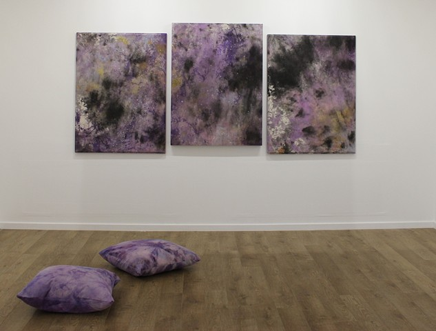Installation shot from 'Karen David/Lee Triming' Wimbledon Residency Outputs
