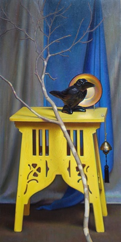 still life with bird