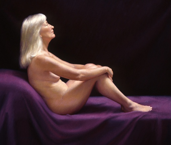 Figure With Purple Background