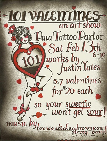 """101 Valentines"" by Justin Yates"