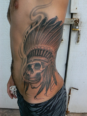 B&G native american/skull