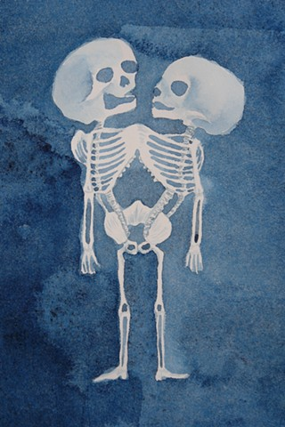 Perfectly Cheerful: Skeleton drawing of Ritta-Christina