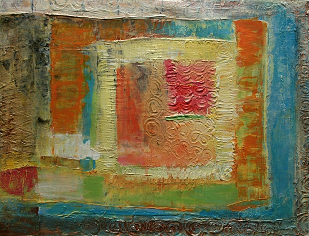 acrylic, fine art, original painting, abstract, windows, gardens, flowers