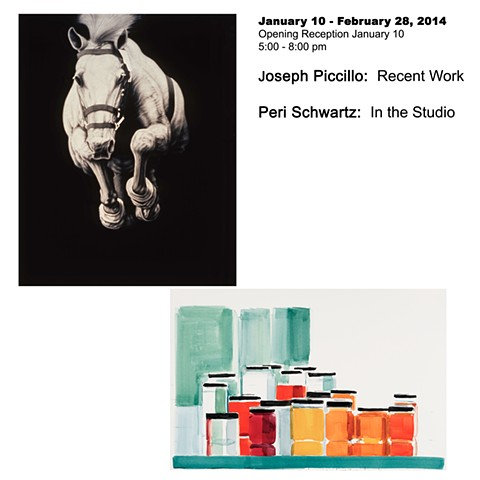 January 10 - February 28, 2014 Joseph Piccillo:  New Work Peri Schwartz:  In the Studio