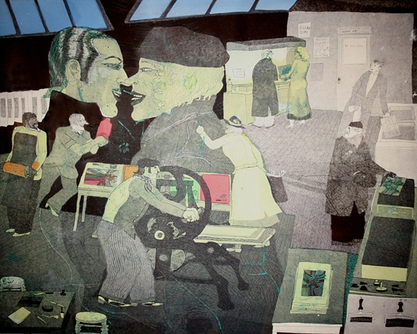 Warrington Colescott The History of Printmaking:  S.W. Hayter Discovers Viscosity Printing