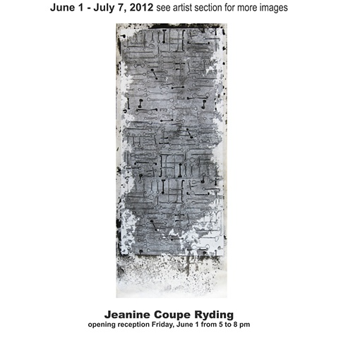 June 1 - July 7, 2012 Jeanine Coupe-Ryding
