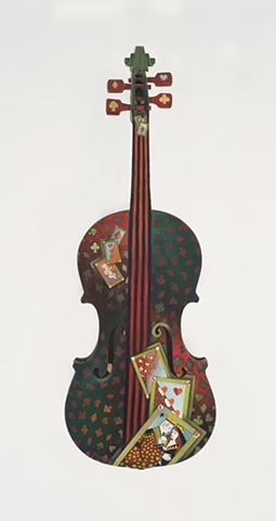 Playing Card Violin