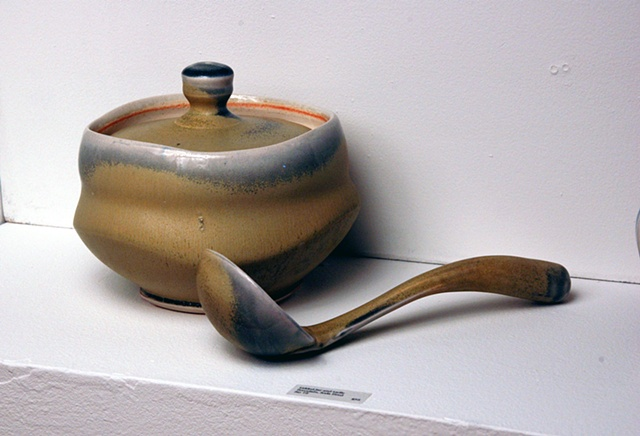 Lidded Bowl and Ladle