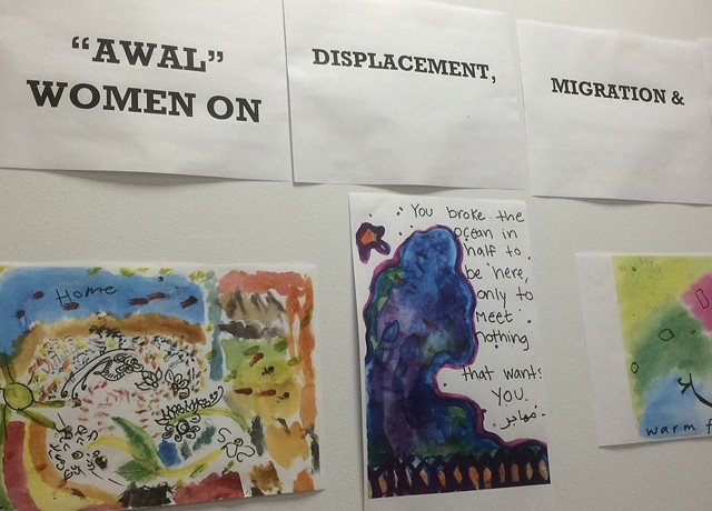 "Women's responses to ""What have you lost? What have you gained, in immigrating?"" at the community center"