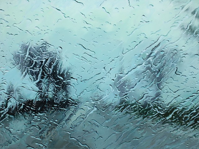 rainy windshield painting