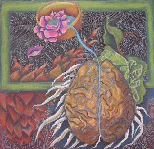 brain, leaves