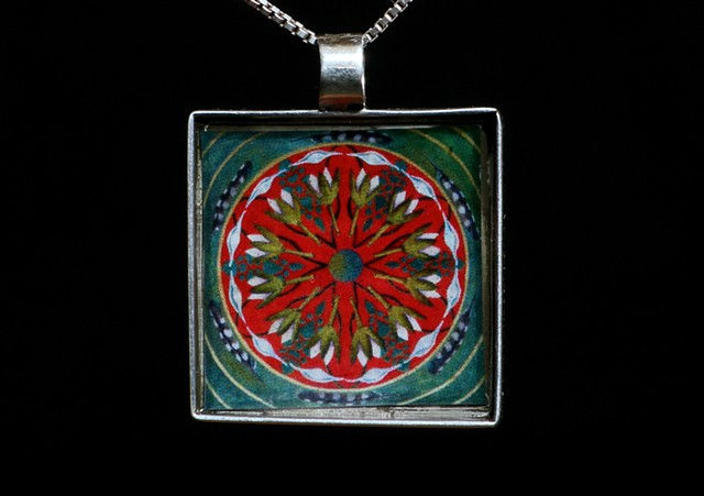jewelry, mandala, miniature, pendant, affordable, original
