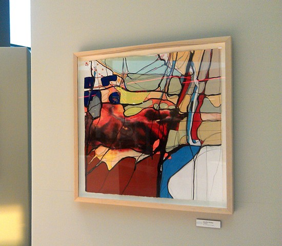 Arts in the Airport Juried Exhibition, McGee Tyson Airport, Knoxville, TN  Image: Divided, Mixed Media (pen, ink, acrylic) 2012