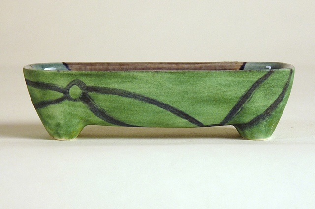 functional ceramics, olive boat, painted form